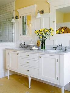 bathroom pale yellow wall color with white vanity and elegant best bathroom colors