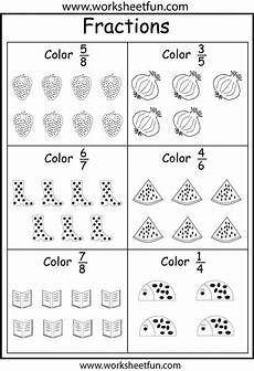 coloring fractions 5 worksheets worksheets fractions