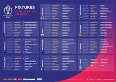 icc world cup 2019 full schedule fixtures date timing sportsfirky
