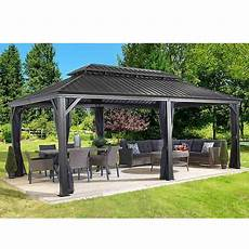 messina galvanized steel roof sun shelter in gray in