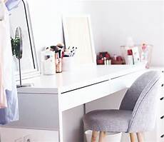 Rangement Maquillage Coiffeuse Malm Ikea Scandinave