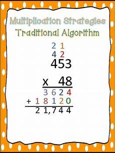 multi digit multiplication strategy posters by teaching