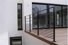 garde corps terrasse design garde corps d ext 233 rieur en m 233 tal 224 panneaux en verre cabourg escalier design 14 idei