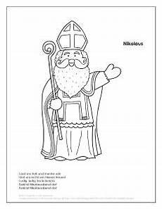 Malvorlagen Nikolaus Pdf Nikolaus Free Coloring Page German In The Afternoon