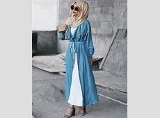 Long open cardigans hijab style     Just Trendy Girls