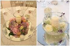 matrimonio candele centrotavola romantico tema matrimonio specchio fiori