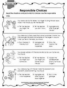 problem solving making responsible choices 2nd grade second step lesson