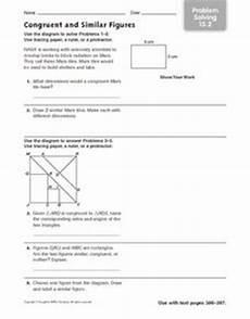 congruent and similar figures problem solving 15 2 worksheet 4th 6th grade worksheet