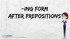 free worksheets pronouns 18678 verb form 5 ing form after prepositions