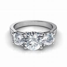 three stone wedding rings three stone trellis engagement ring