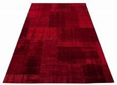 moderner vintage teppich in rot pognum 45 floorpassion