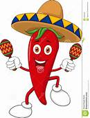 Happy Chili Pepper Dancing With Maracas Royalty Free Stock