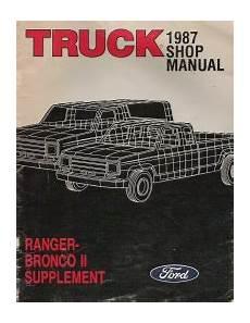 car repair manual download 1987 ford ranger regenerative braking 1987 ford truck ranger bronco ii supplement manual
