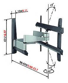 support tv mural 826 vogel s efw 6345 plus supports tv vid 233 o