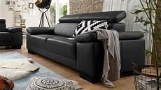 dreisitzer sofa sofa santiago dreisitzer in leder schwarz mit funktion 226