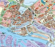 Hamburg Sehenswürdigkeiten Karte - hamburg tourismus karte kleve landkarte