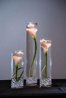 submersible pink calla lily floral wedding centerpiece