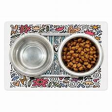 for you worksheets 18525 powers pet mat for food and water floral design with calligraphy doodle and