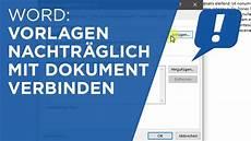 ms word vorlagen mit dokumenten verbinden