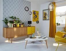 deco vintage salon inspiration d 233 co soleil vintage all yellow living