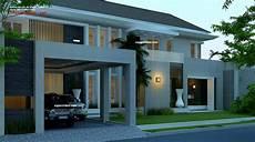 Desain Rumah Mewah 2 Lantai Kavling Hook