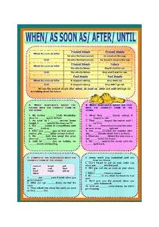 time clauses worksheets 2951 worksheet time clauses when as soon as after until how to memorize things