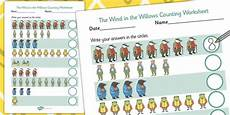 the wind in the willows counting sheet worksheets counting