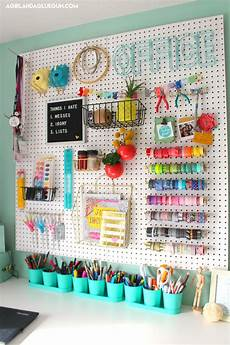 over 30 ways to organize with a peg board craft room