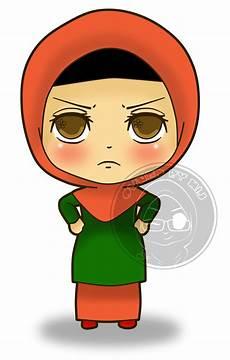 Gambar Kartun Muslimah Merenung Gambar Kartun