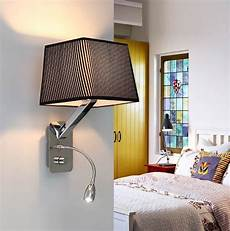 creative fabric wall sconces band switch modern led reading wall light fixtures for bedroom wall