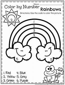 create color by number worksheets 16101 5 rainbow color by number printables for kittybabylove