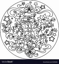 coloring mandala royalty free vector image