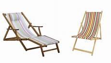chaise longue de jardin bois et toile
