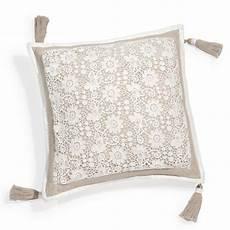 housse de coussin en coton beige 40 x 40 cm wonderful