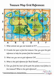 mapping grid reference worksheets 11589 treasure map grid reference worksheet