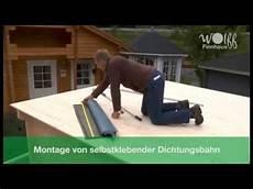 Wolff Finnhaus Montage Selbstklebende Dichtungsbahn