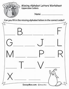 missing alphabet letters worksheet free printable doozy moo