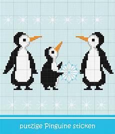 pinguin famlilie sticken entdecke zahlreiche kostenlose