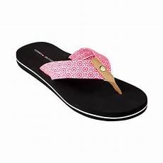 lyst hilfiger womens corrale flip flops in pink