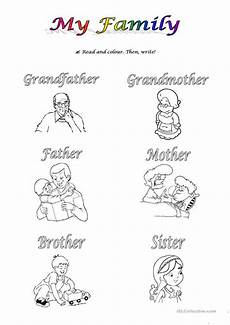 my family worksheet free esl printable worksheets made by teachers