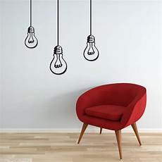 wall decal bulbs hanging lights bulb decal vinyl wall sticker for any rooms modern decor on luulla