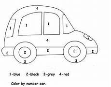 vehicles free worksheets 15173 color by number car worksheet transportation preschool cars preschool transportation worksheet