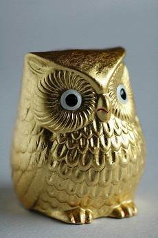 beautiful bird owl figurines japanese gold leaf owl figurine pinned by www myowlbarn