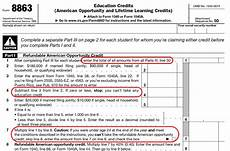 what is form 8863 form 8863 instructions information the education