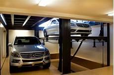 custom car lift in california garage contemporary