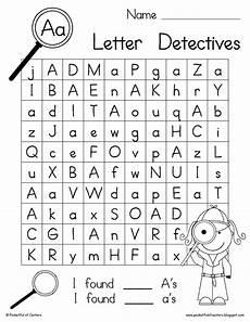 free printable letter recognition worksheets for preschoolers 23701 letter detectives printable a z letter searches kindergarten language arts preschool
