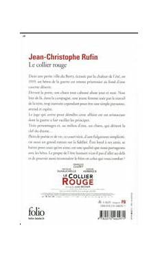 livre le collier jean christophe rufin
