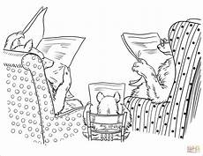 newspaper colouring pages 17708 three bears read newspapers coloring page free printable