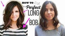 how to cut the bob quot lob haircut quot youtube