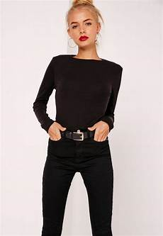 best black crew neck ribbed top black missguided